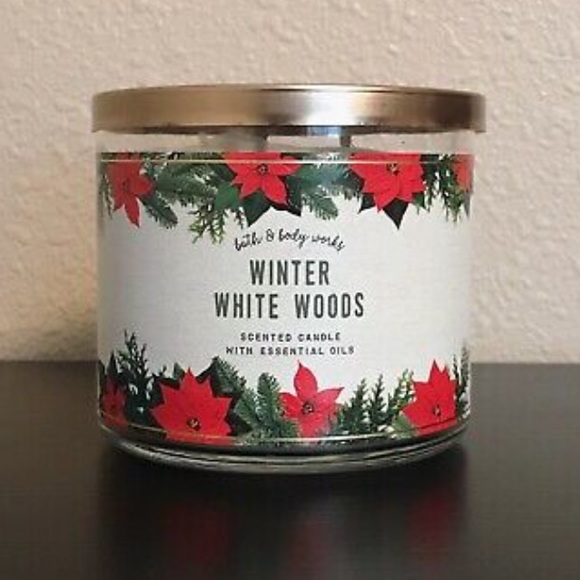 Winter White Woods Bath & Body Works 3 wick